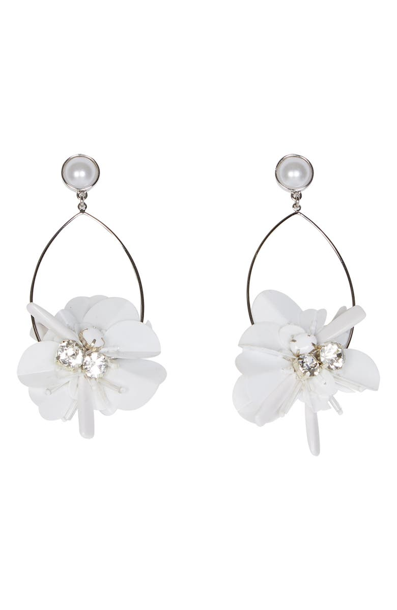 MIGNONNE GAVIGAN Haley Swing Drop Earrings, Main, color, WHITE