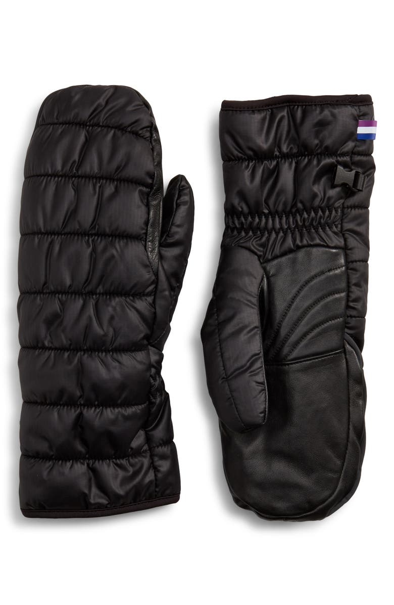 U|R Extreme Cold Weather Touchscreen-Compatible Mittens, Main, color, BLACK SOLID