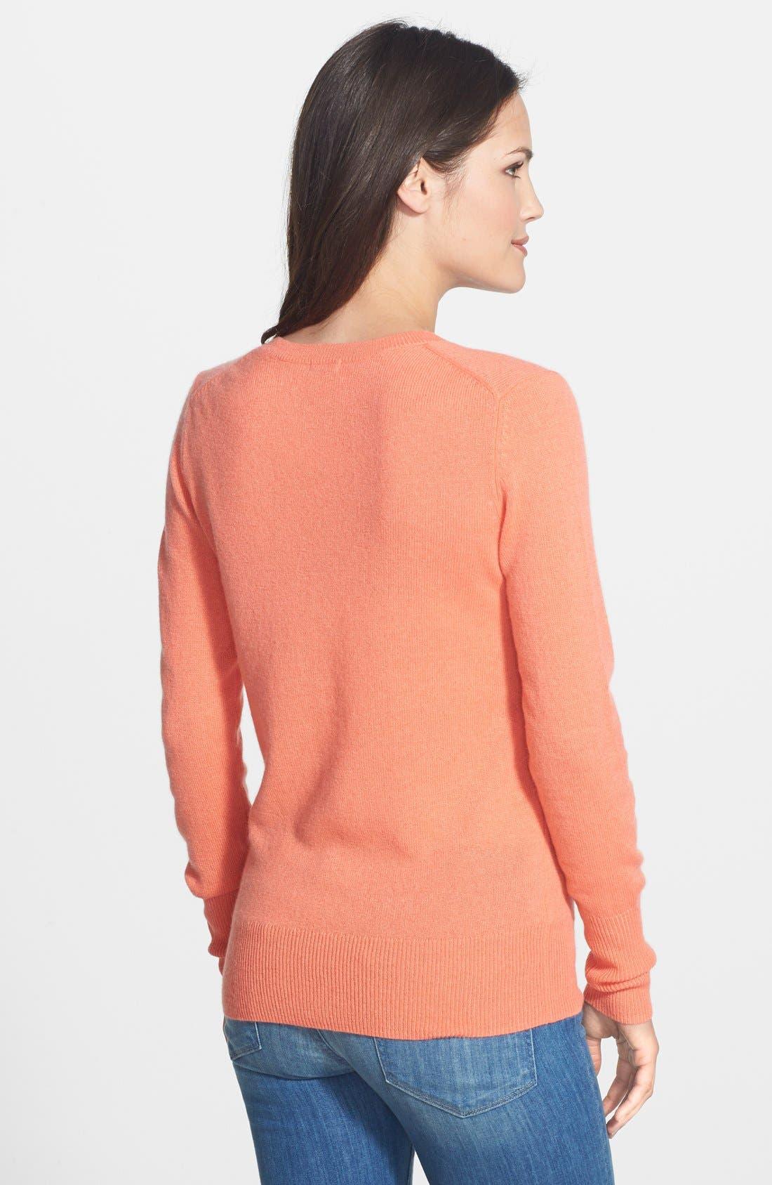 ,                             Cashmere V-Neck Sweater,                             Alternate thumbnail 94, color,                             950