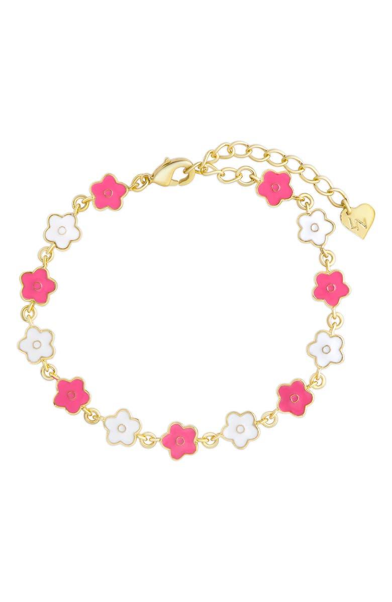 LILY NILY Flower Bracelet, Main, color, GOLD