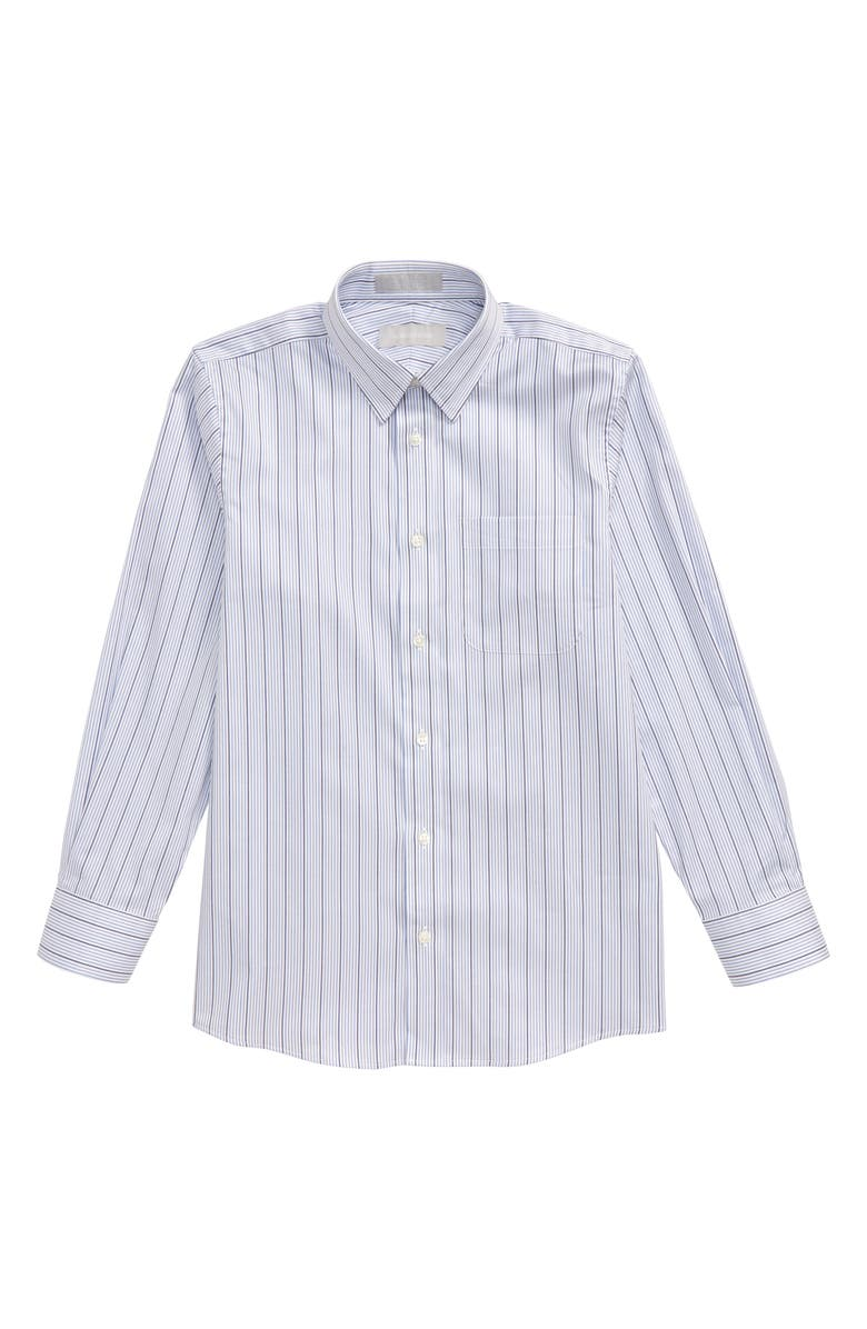 NORDSTROM Stripe Button-Up Dress Shirt, Main, color, 100
