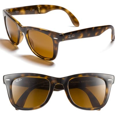 Ray-Ban Standard 50Mm Folding Wayfarer Sunglasses -