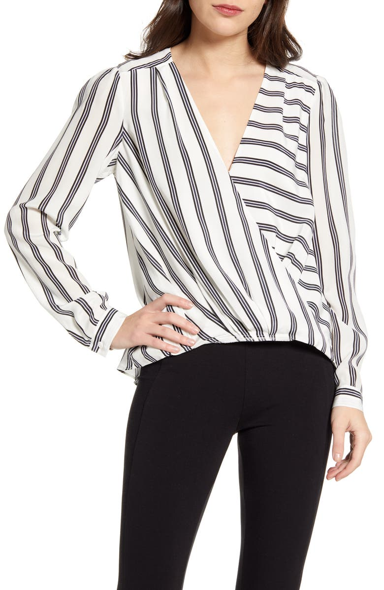SPLENDID Stripe Silk Top, Main, color, 417