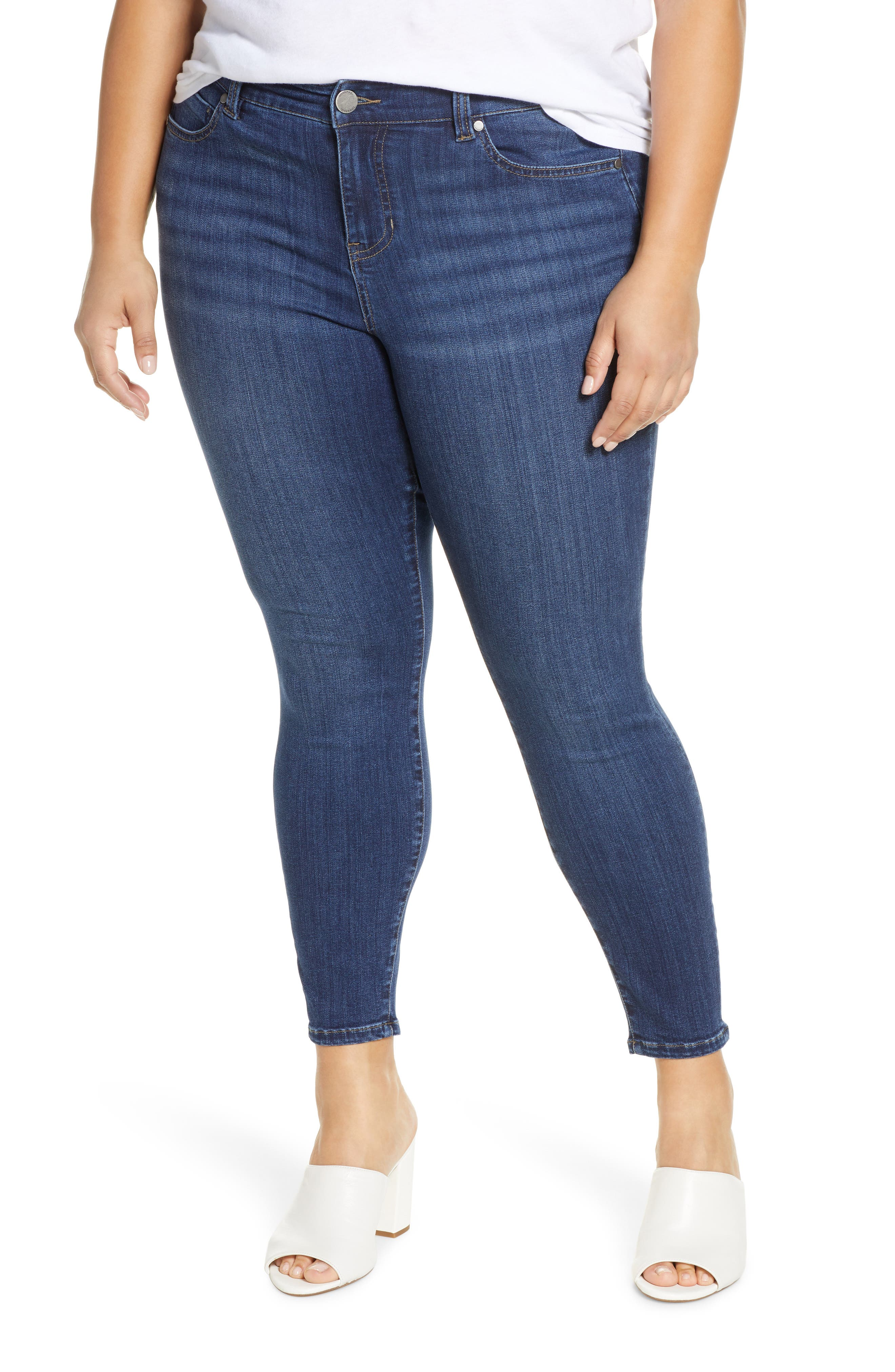 Abby Stretch Ankle Skinny Jeans
