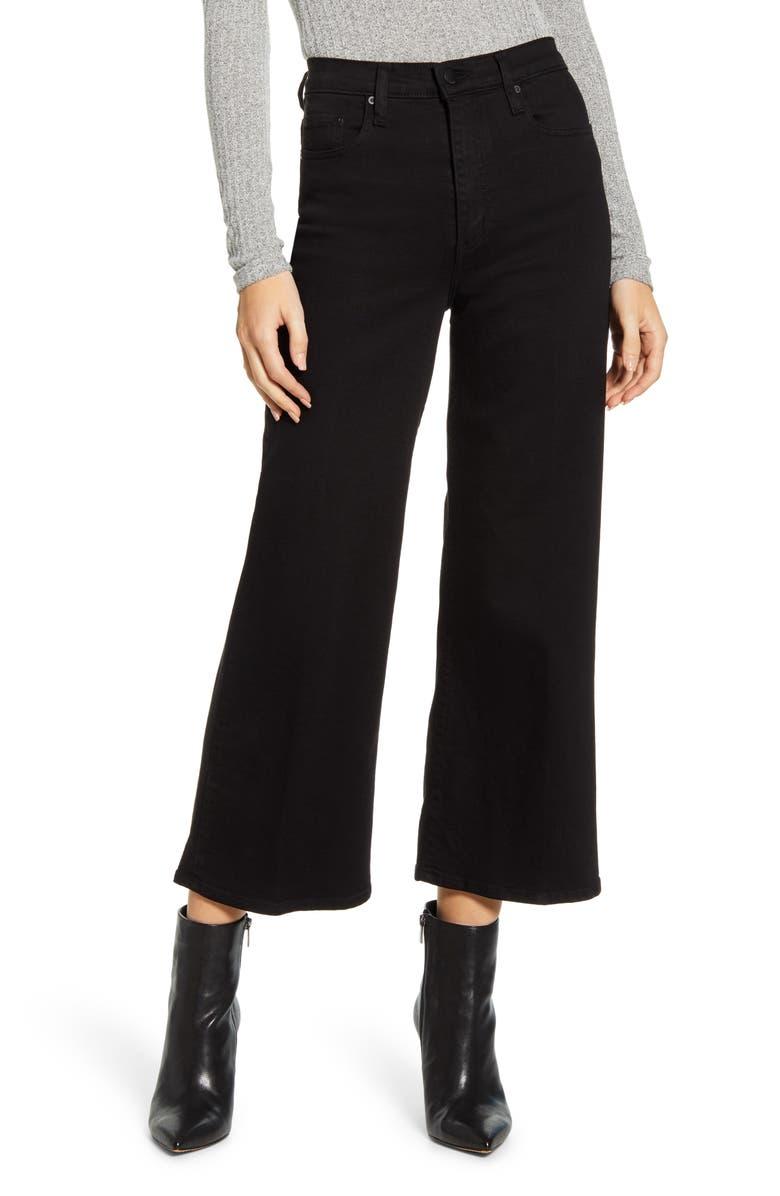 NOBODY DENIM Milla Crop Wide Leg Jeans, Main, color, PURE BLACK