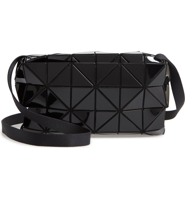 BAO BAO ISSEY MIYAKE Carton Crossbody Bag, Main, color, BLACK