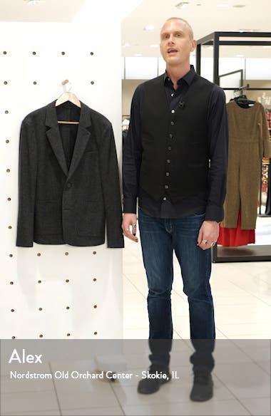 Slim Fit Heathered Wool Blend Sport Coat, sales video thumbnail