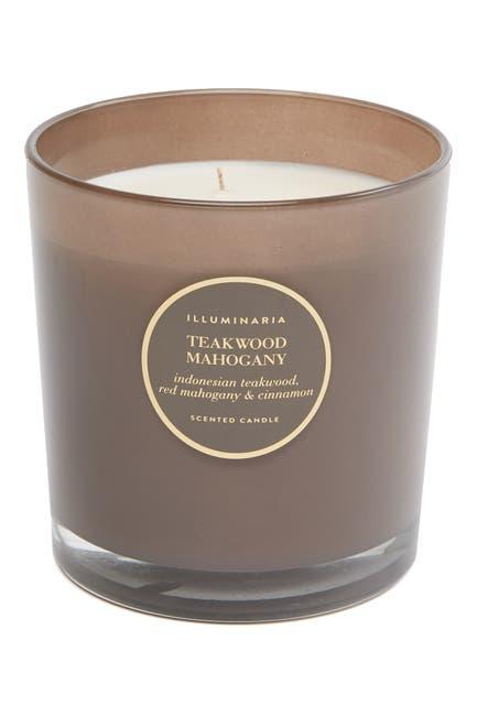 Image of Zodax Teakwood Mahogany Large Round Candle