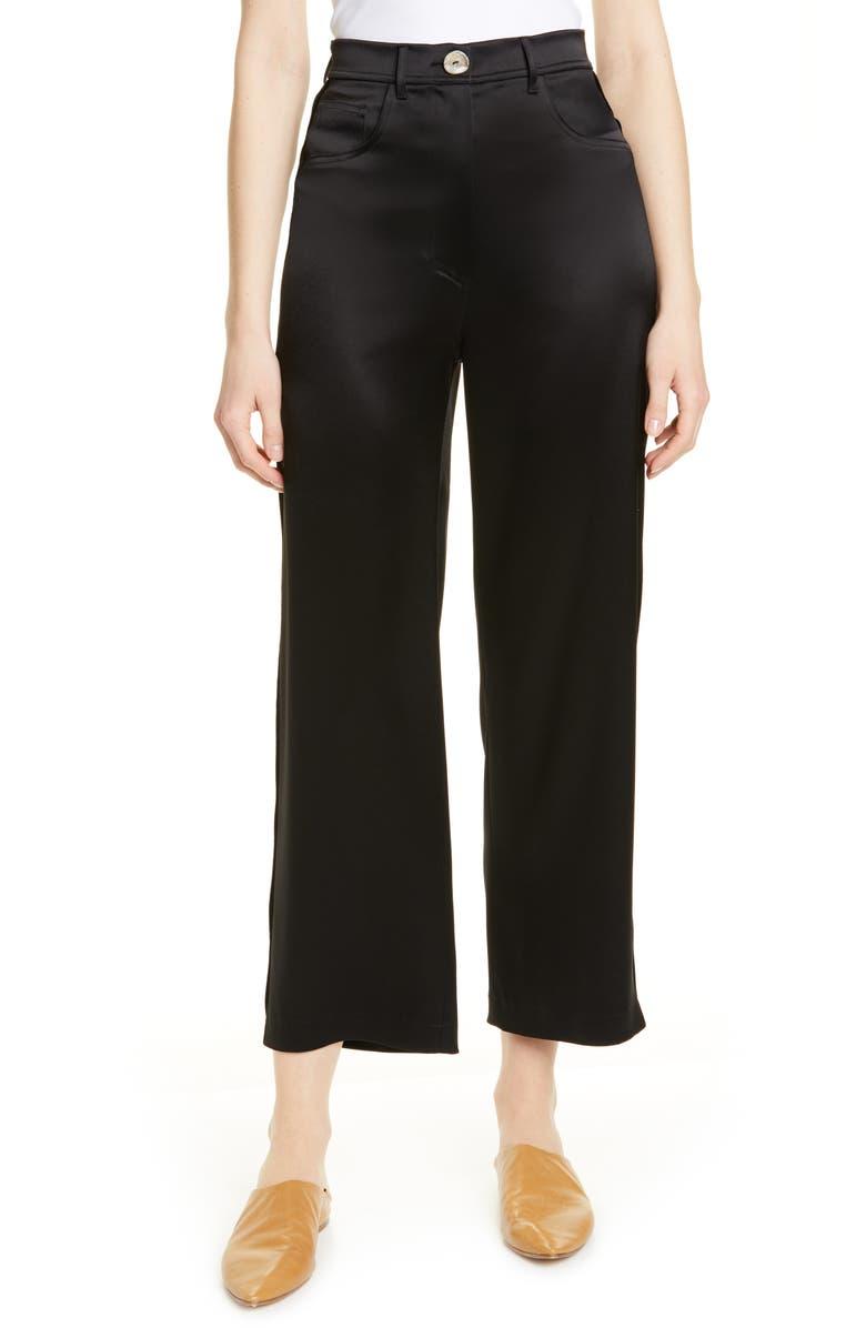 NANUSHKA Marfa Crop Pants, Main, color, BLACK