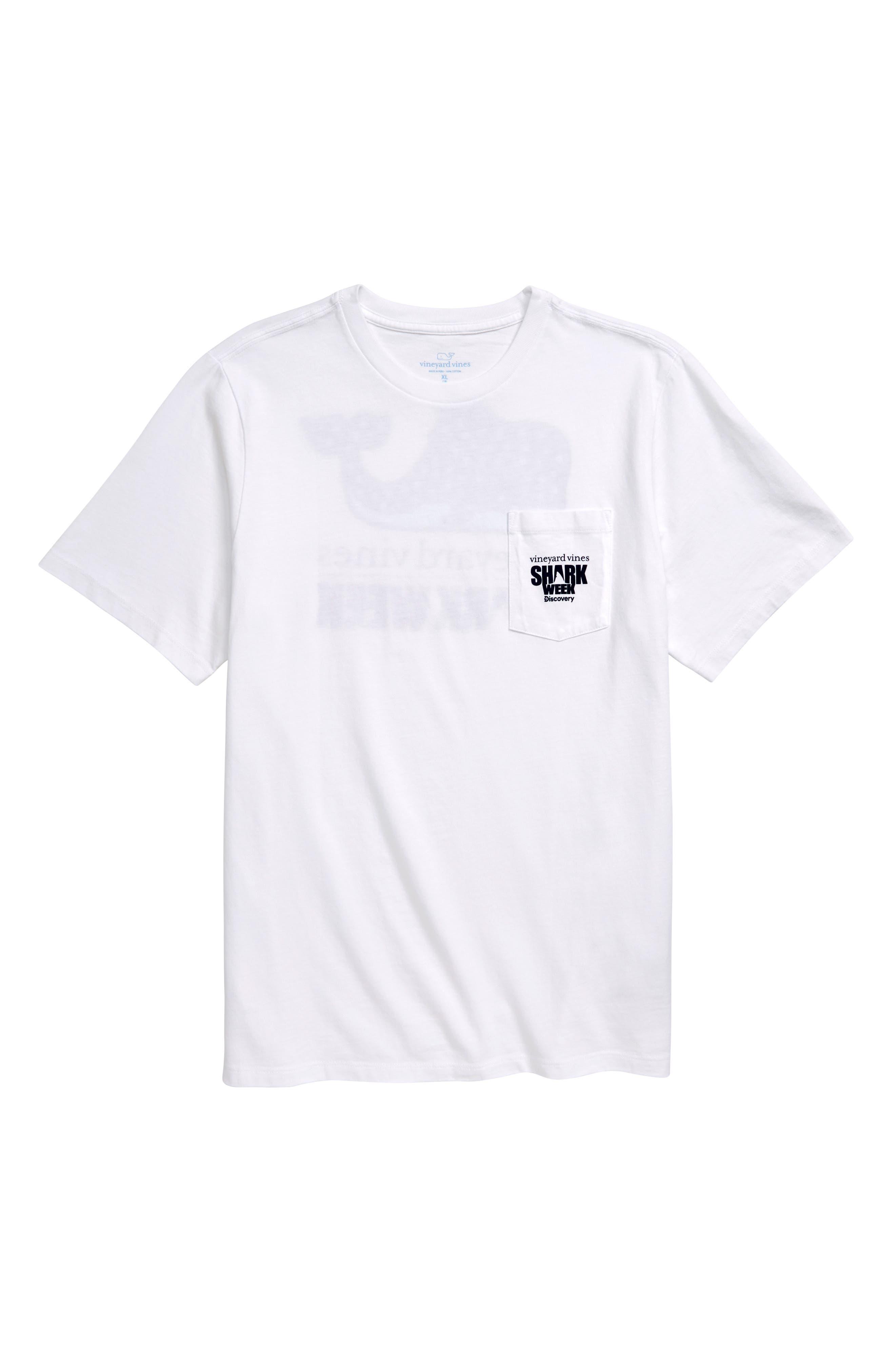 Toddler Boys Vineyard Vines X Shark Week(TM) Whale Shark Pocket TShirt Size 4T  White