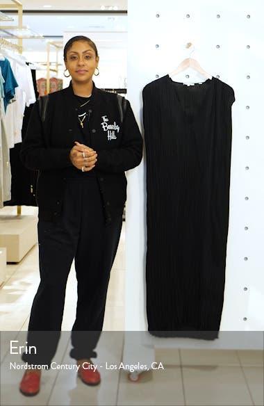Crinkle Pleat Tie Waist Cap Sleeve Dress, sales video thumbnail