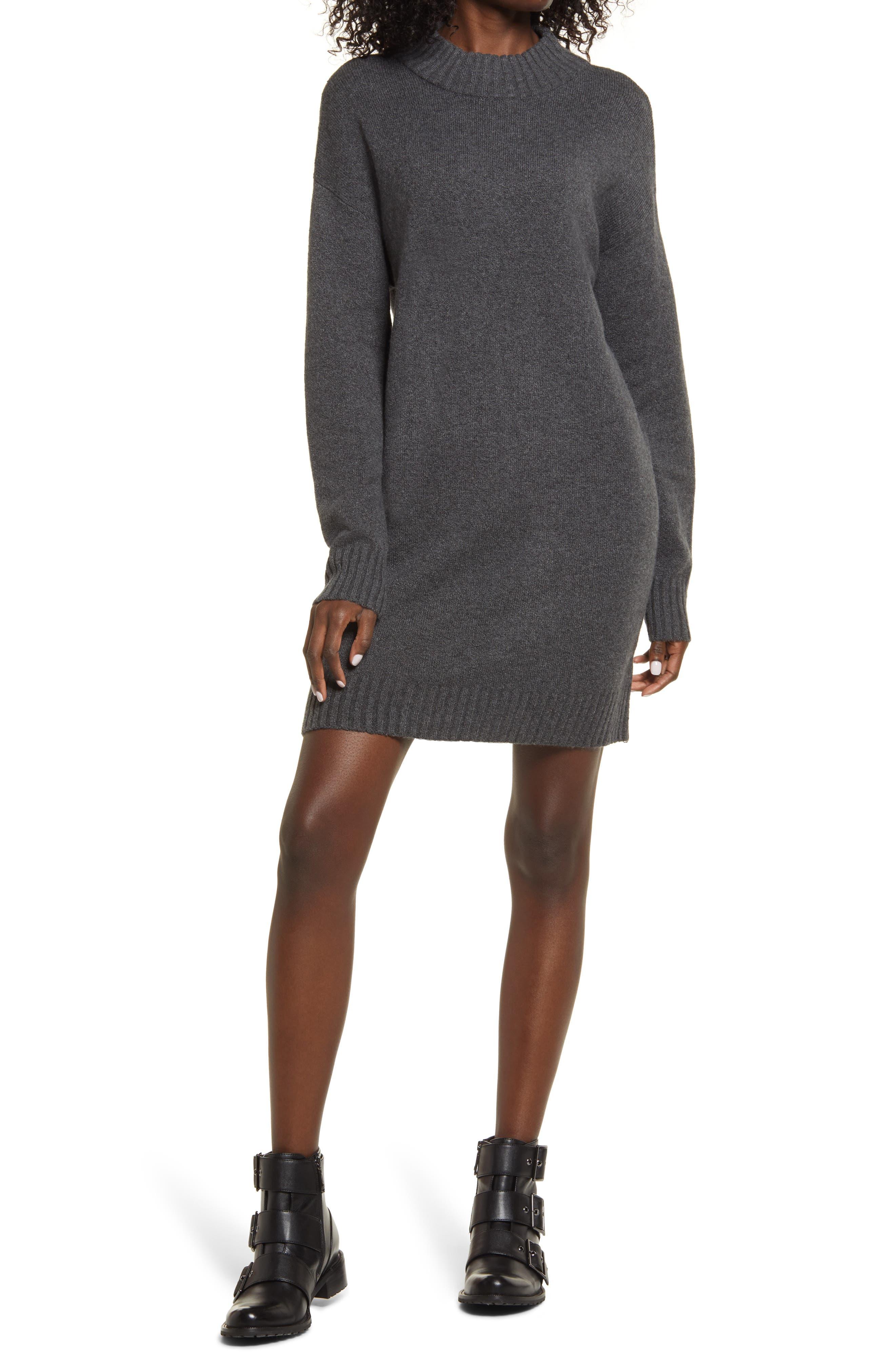 Easy Crewneck Long Sleeve Sweater Dress