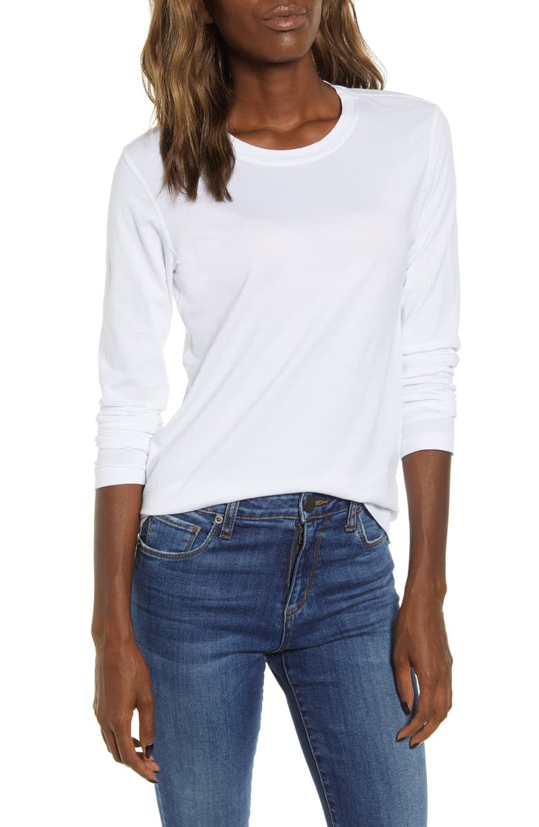 STATESIDE Supima<sup>®</sup> Cotton Tee, Main, color, WHITE