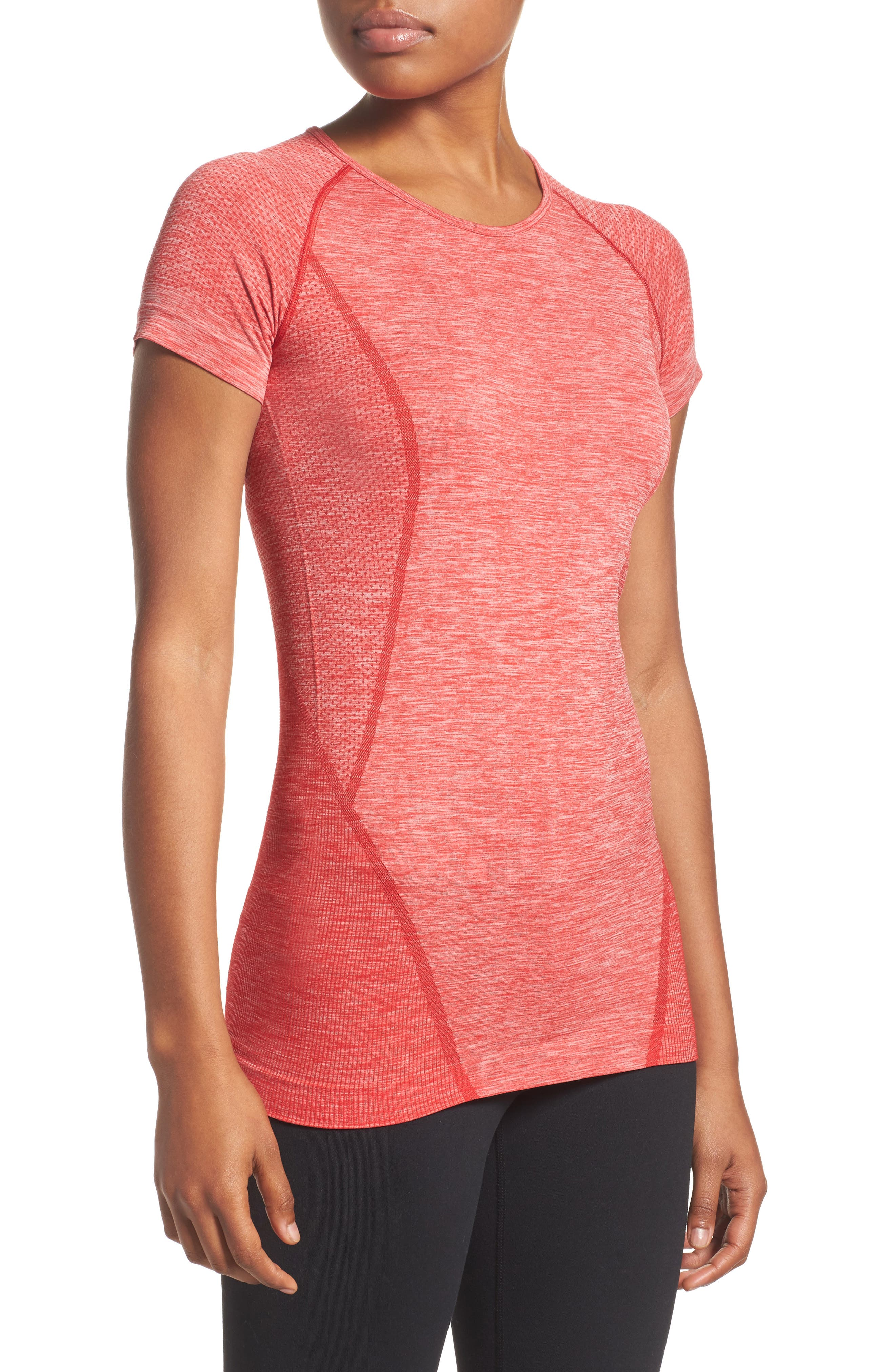 ,                             Stand Out Seamless Training Tee,                             Main thumbnail 82, color,                             610