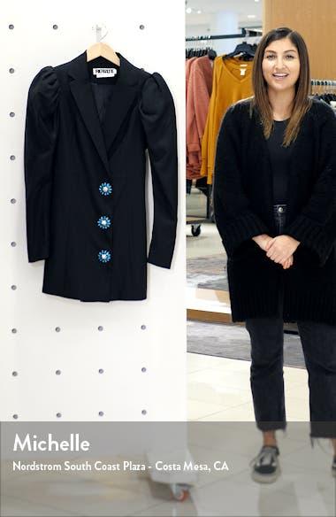 Carol Long Sleeve Wool Blend Blazer Minidress, sales video thumbnail