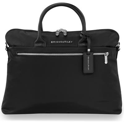 Briggs & Riley Slim Business Briefcase - Black