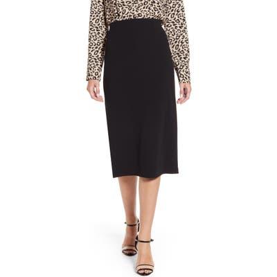 Petite Halogen Knit Pencil Skirt, Black