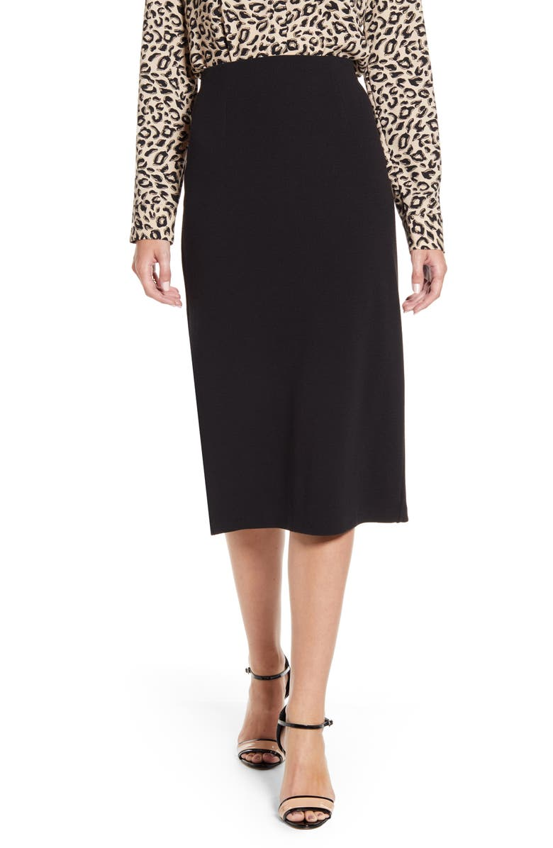 HALOGEN<SUP>®</SUP> Knit Pencil Skirt, Main, color, 001