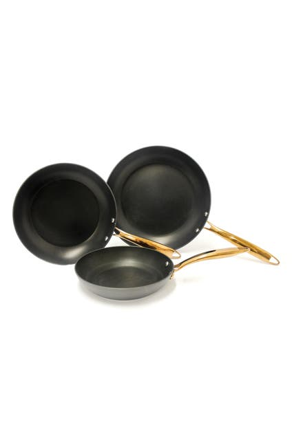 Image of BergHOFF Ouro Black 3-Piece Fry Pan Set
