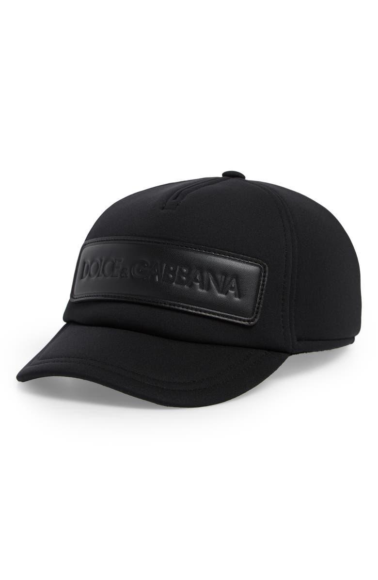 DOLCE&GABBANA Logo Baseball Cap, Main, color, NERO