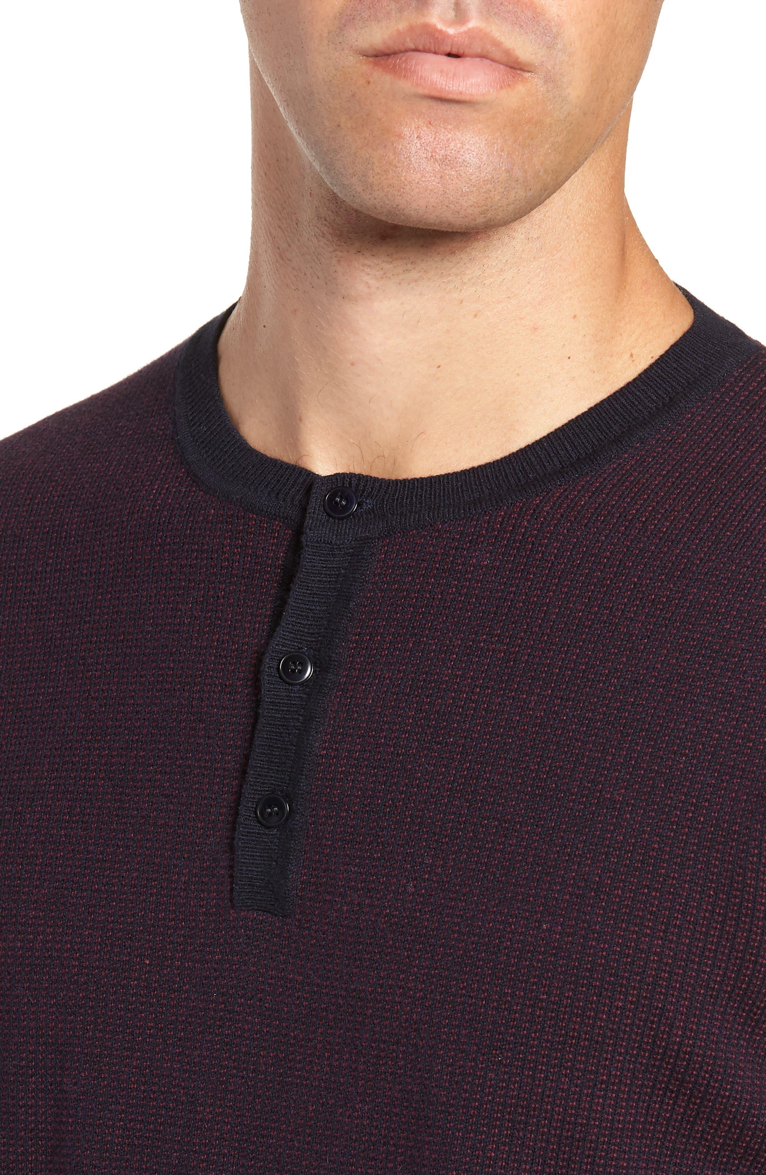 ,                             Kimball Regular Fit Henley Sweater,                             Alternate thumbnail 4, color,                             WINE
