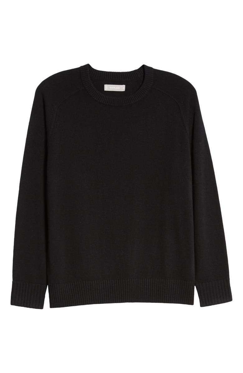 EVERLANE The ReCashmere Crew Sweater, Main, color, BLACK