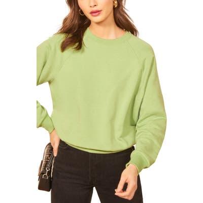 Reformation Rio Sweatshirt, Green
