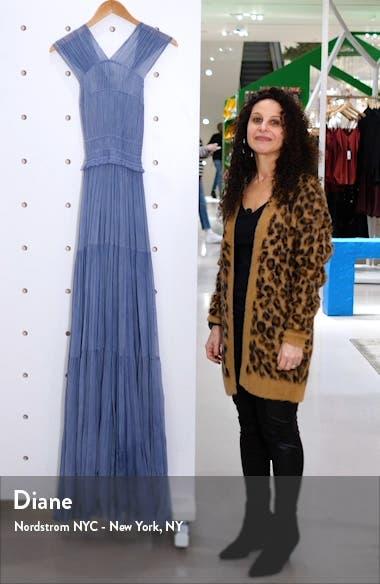 Freesia Pleated Silk Gown, sales video thumbnail