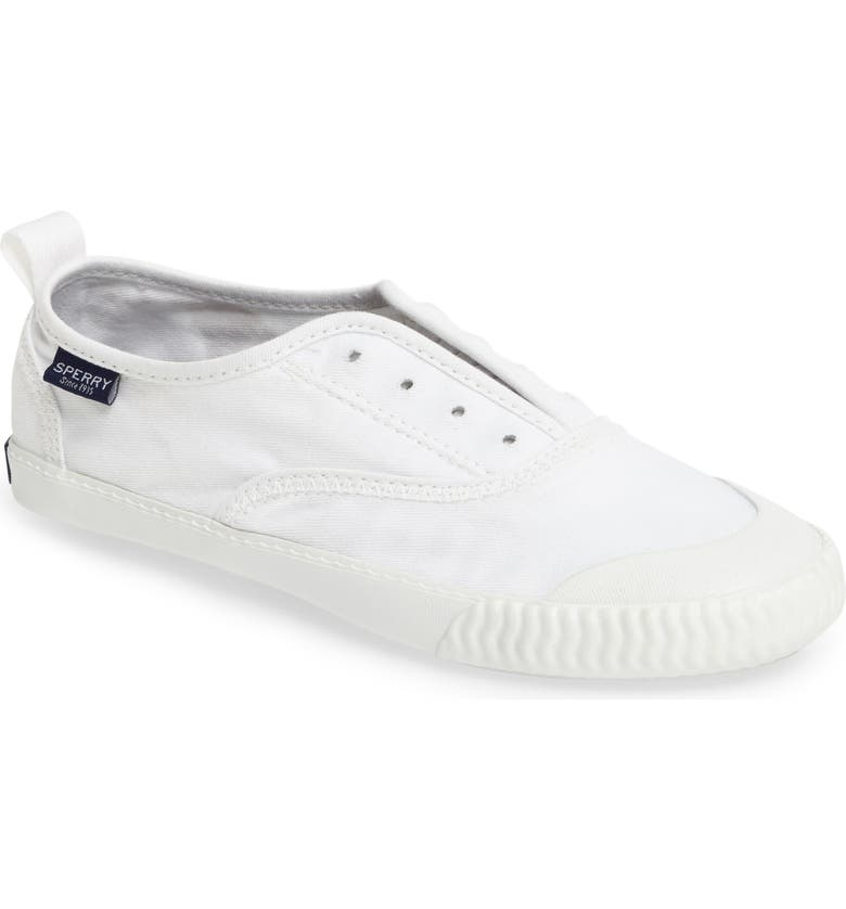 SPERRY Sayel Slip-On Sneaker, Main, color, WHITE FABRIC