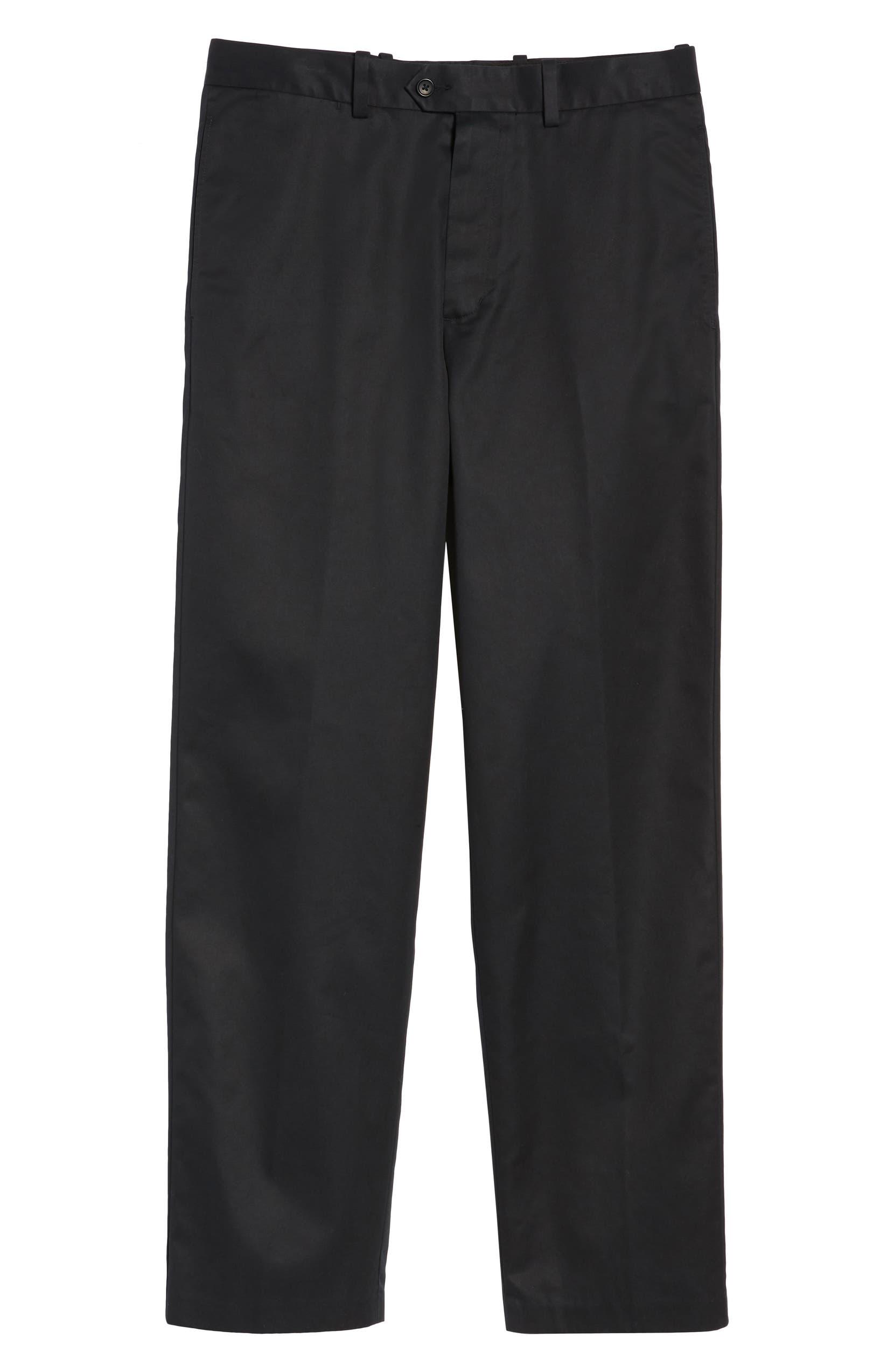 e31595e09eb Nordstrom Men's Shop Smartcare™ Classic Supima® Cotton Flat Front Straight  Leg Trousers | Nordstrom