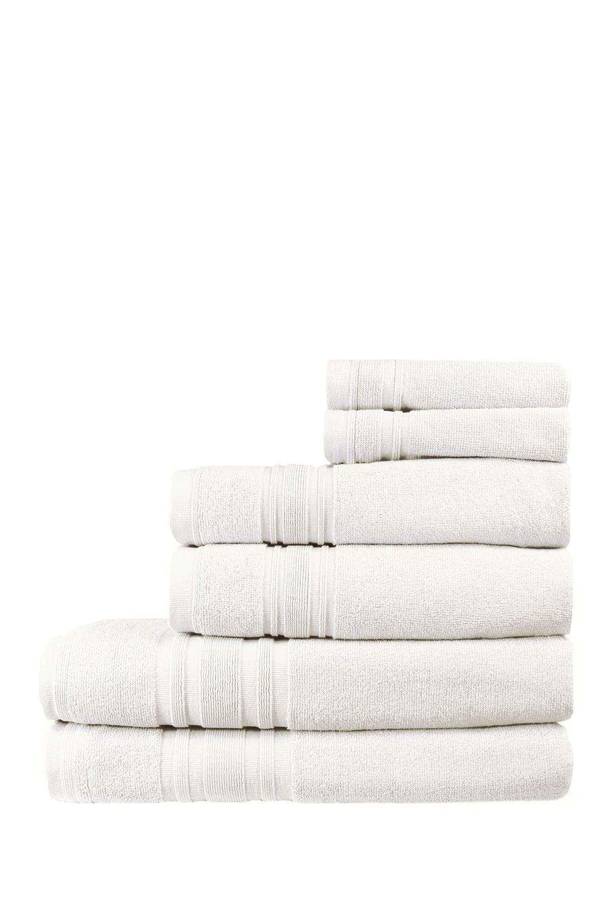 Image of Melange Home 100% Turkish Cotton 6-Piece Ensemble Set