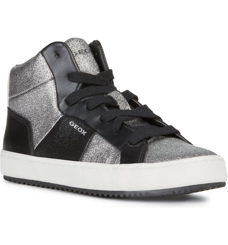 GEOX Kalispera 24 High Top Sneaker, Main, color, SILVER
