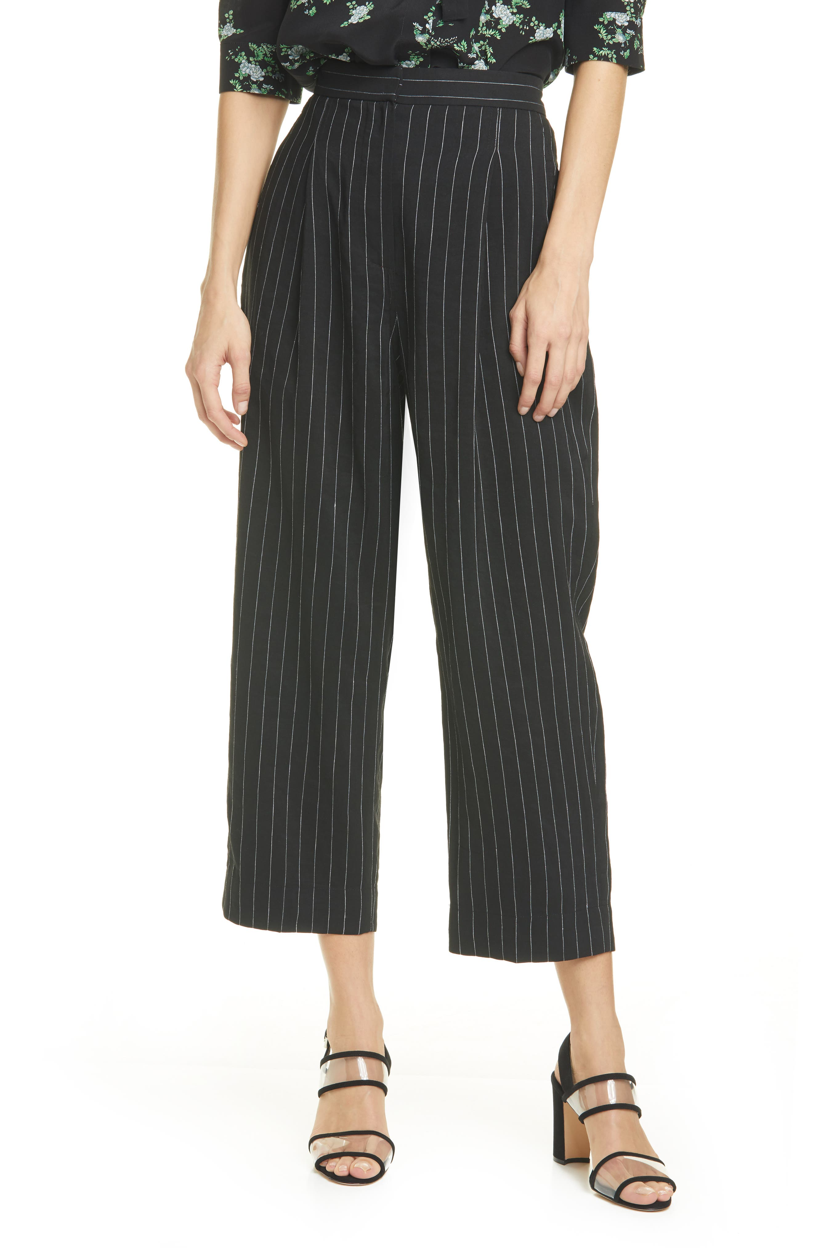 Abstract Stripe Crop Pants