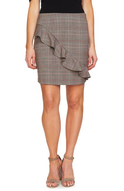 Image of CeCe by Cynthia Steffe Glen Plaid Miniskirt