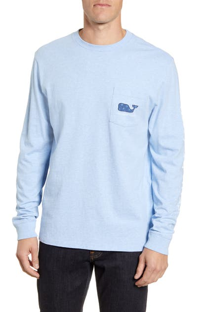 Vineyard Vines T-shirts MINI SNOWFLAKES LONG SLEEVE POCKET T-SHIRT