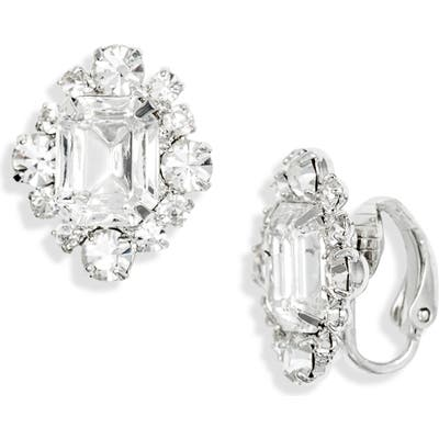 Cristabelle Fancy Crystal Square Clip-On Earrings