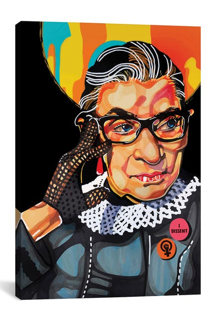 Image of iCanvas Ruth Bader Ginsburg by Domonique Brown