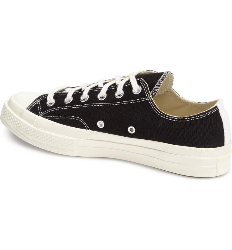 COMME DES GARÇONS PLAY x Converse Chuck Taylor<sup>®</sup> Hidden Heart Low Top Sneaker, Main, color, BLACK