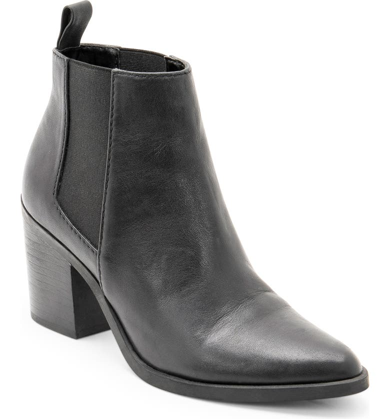 BLONDO Tarte Waterproof Chelsea Boot, Main, color, BLACK LEATHER