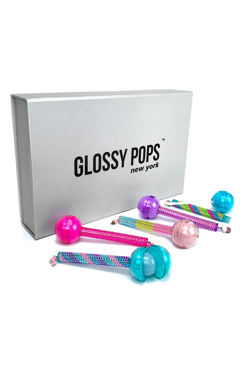 GLOSSY POPS 5-Pack Lip Balm & Lip Gloss Set, Main, color, ASSORTED