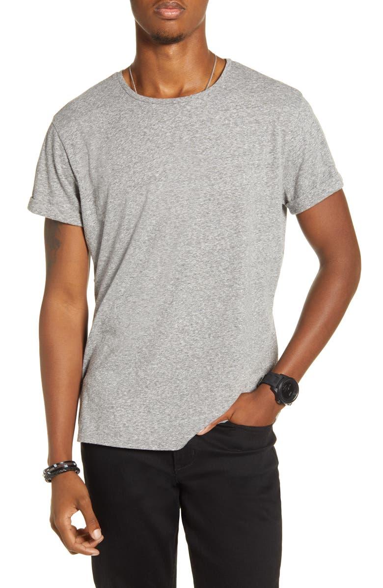 BP. x Alex Costa Cuffed T-Shirt, Main, color, GREY HEATHER MARL