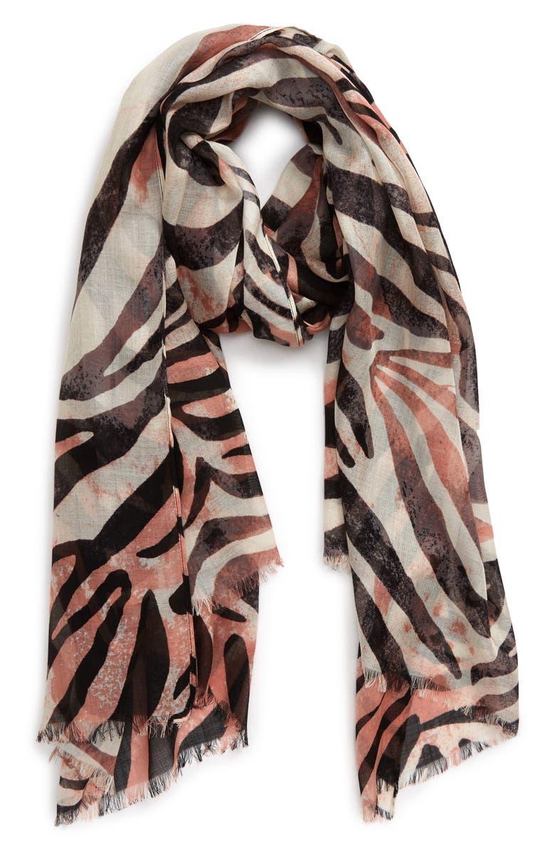 NORDSTROM Silk Gauze Scarf, Main, color, 021