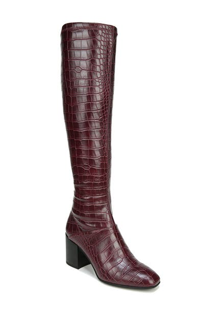 Image of Franco Sarto Tribute Croc Embossed Leather Boot
