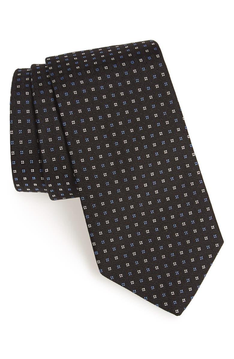 GITMAN Geometric Silk Tie, Main, color, 001