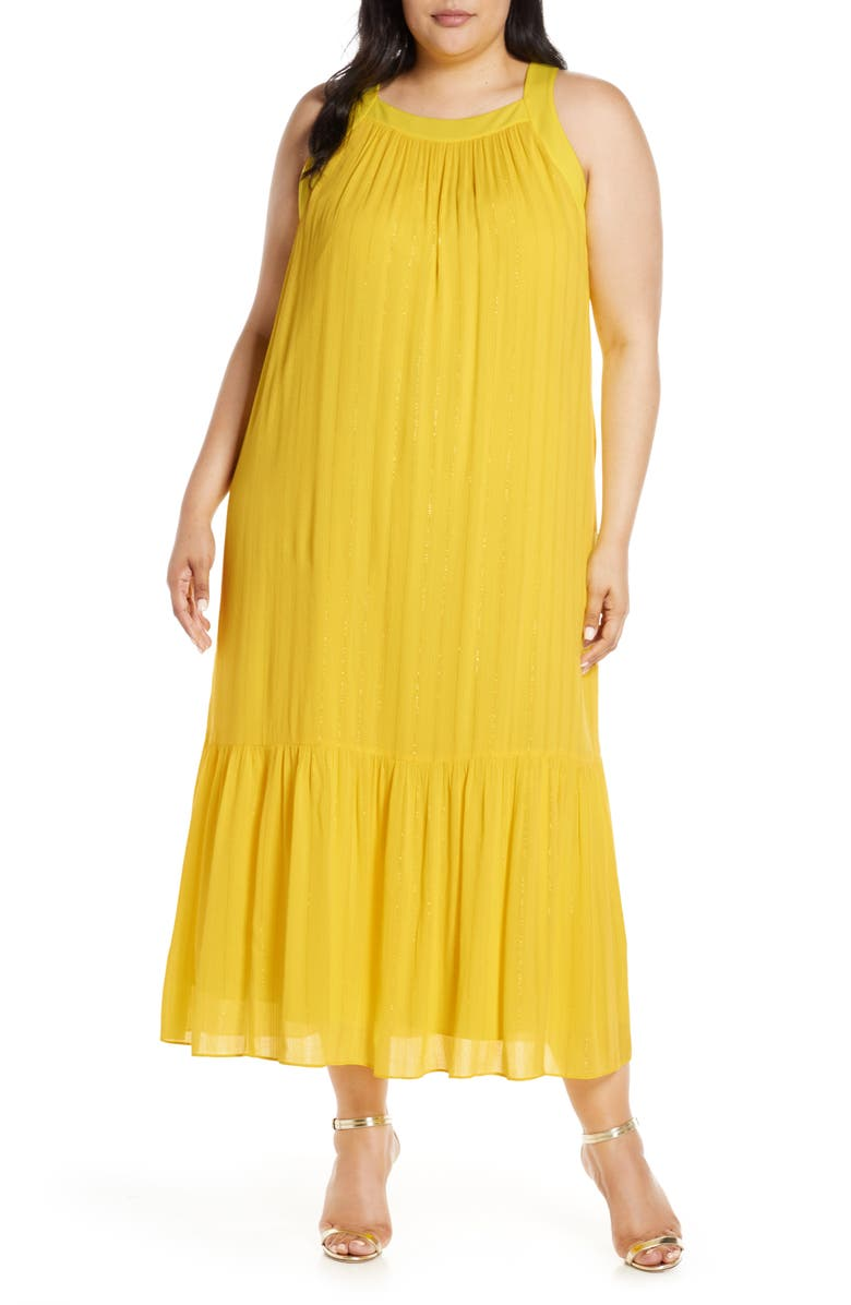 RACHEL RACHEL ROY Leo Flounce Dress, Main, color, SUNSHINE COMBO