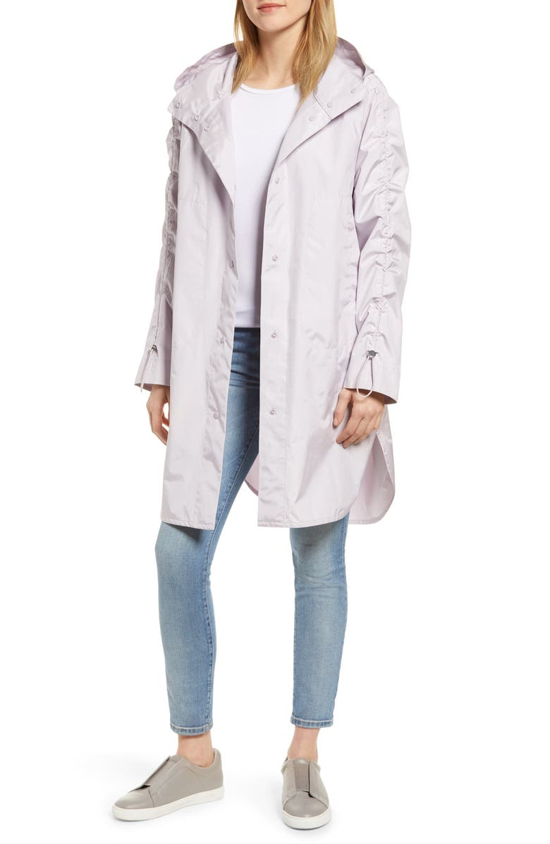 SOSKEN Hara Water Repellent Rain Jacket, Main, color, LAVENDER