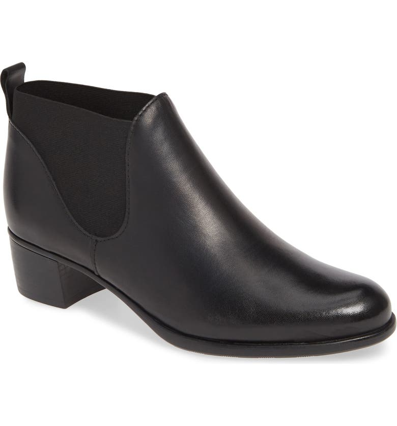 MUNRO Shari Bootie, Main, color, BLACK LEATHER