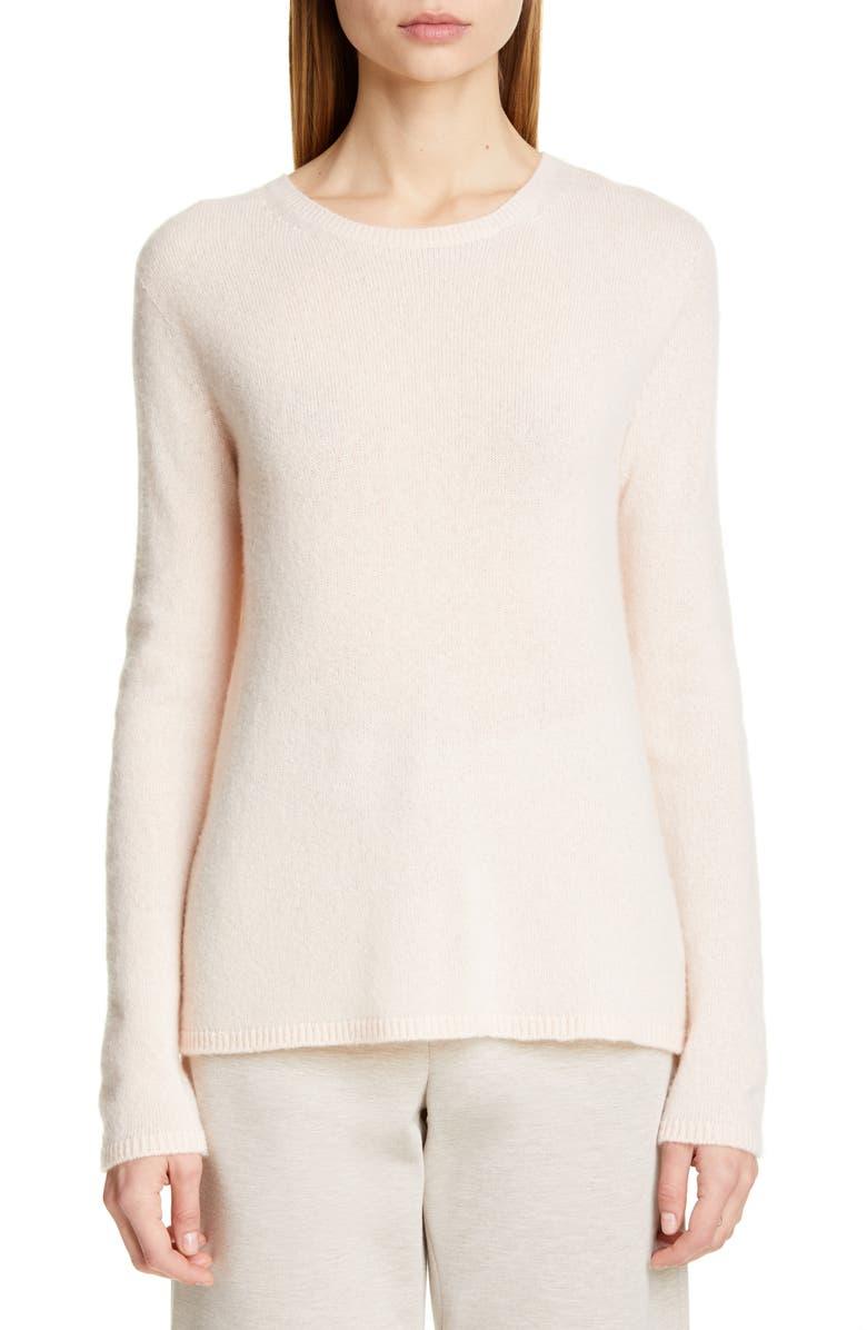 MAX MARA Zeno Cashmere & Silk Sweater, Main, color, PINK