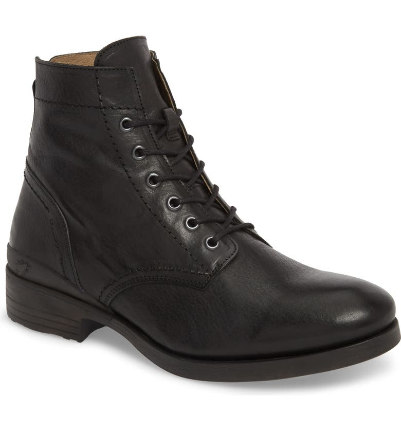 FLY LONDON Marc Combat Boot, Main, color, BLACK APSO