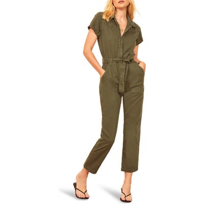 Reformation Kenny Boiler Jumpsuit, Green